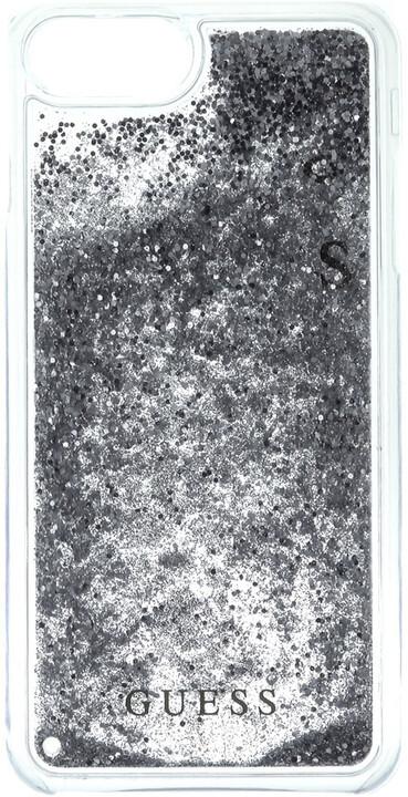 Guess Liquid Glitter Hard Silver pouzdro pro iPhone 7 Plus