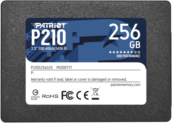 "Patriot P210, 2,5"" - 256GB"