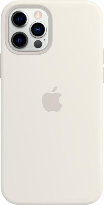 Apple silikonový kryt s MagSafe pro iPhone 12/12 Pro, bílá