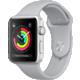 Apple Watch series 3 42mm pouzdro stříbrná/mlhově šedý řemínek