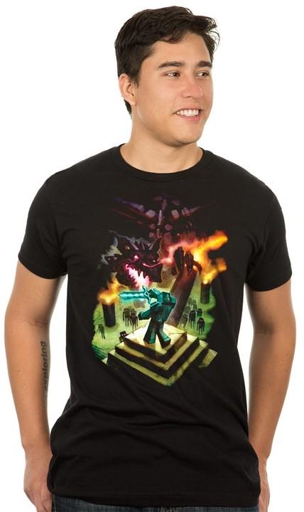 Tričko Minecraft Enderdragon Premium (US L / EU XL)