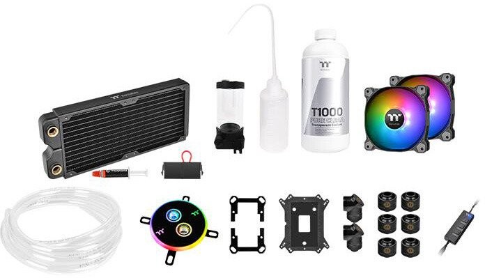 Thermaltake Pacific C240 DDC, Water Cooling Kit (měkké trubky)