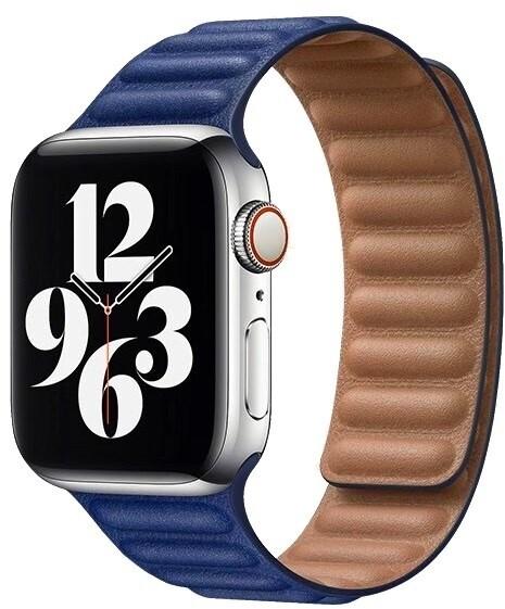 COTEetCI kožený řemínek pro Apple Watch, 42/44mm, modrá