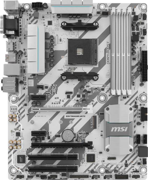 MSI B350 TOMAHAWK ARCTIC - AMD B350