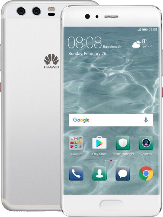 Huawei P10, Dual Sim, stříbrná