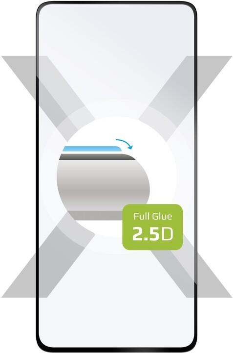 FIXED ochranné tvrzené sklo Full-Cover pro Samsung Galaxy A41, lepení přes celý displej, černá