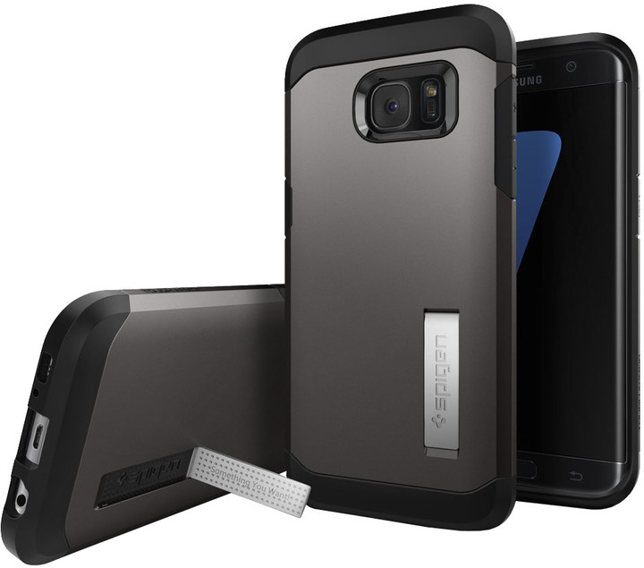 Spigen Tough Armor, gunmetal - Gal S7 edge