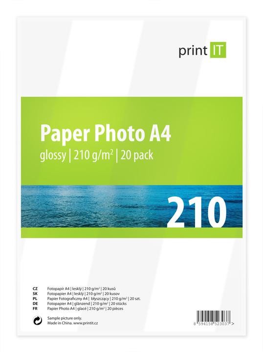 PRINT IT Paper Photo A4 210 g/m2 Glossy 20ks