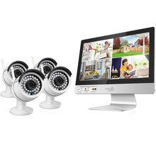 """iGET HOMEGUARD HGNVK49004, 4-kanálový HD NVR s LCD 12"""" + 4x kamera HD 960p, IP66"""