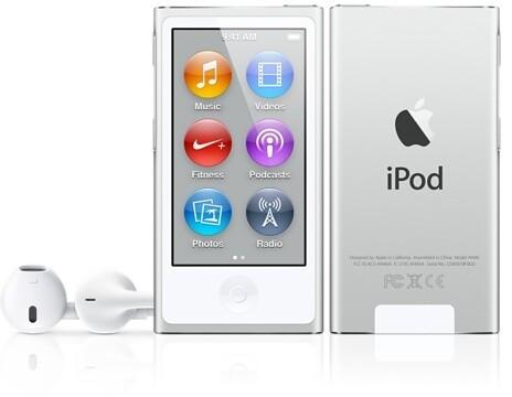 Apple iPod Nano - 16GB, bílá/stříbrná, 7th gen.
