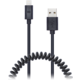 CONNECT IT Wirez Apple Lightning - USB spirálový flexibilní kabel, 1,2 m, černý