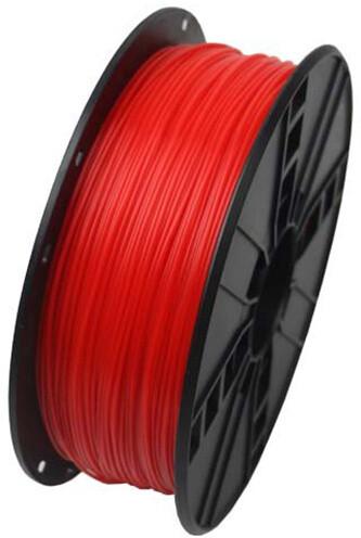 Gembird tisková struna (filament), PLA, 1,75mm, 1kg, fluorescentní červená