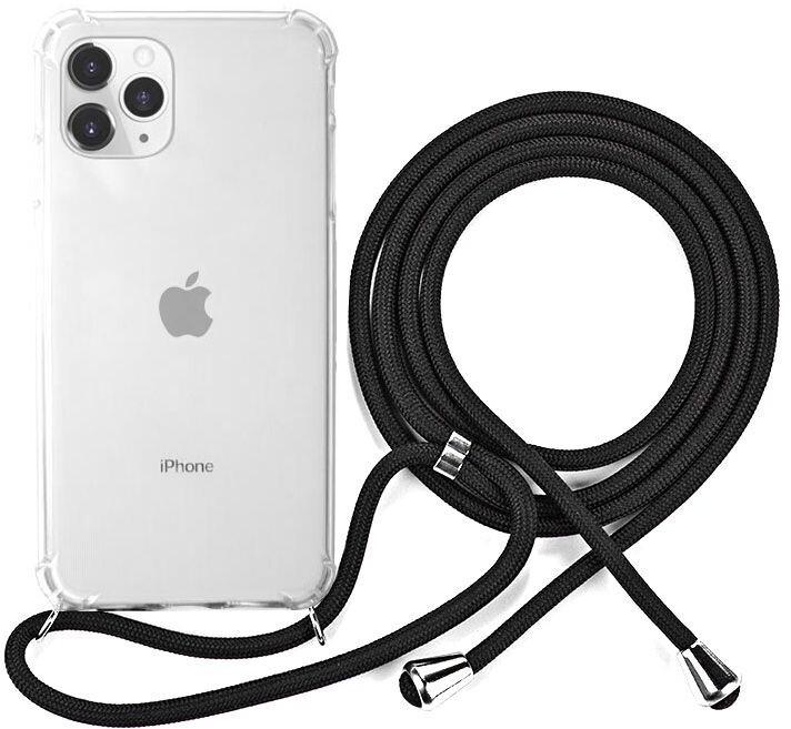 EPICO ochranný kryt Nake String pro iPhone 11 Pro Max, bílá transparentní/černá