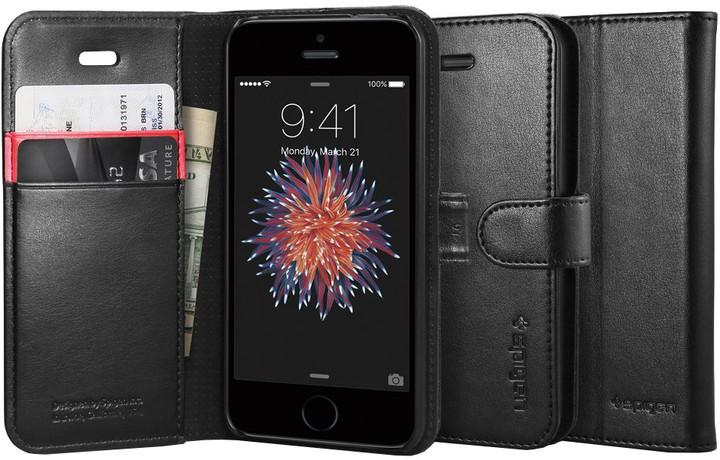 Spigen Wallet S kryt pro iPhone SE/5s/5, černá