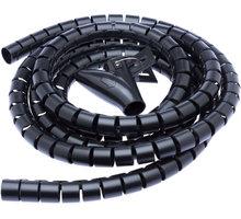 CONNECT IT trubice pro vedení kabelů WINDER, 2,5m x 20mm, černá - CI-514