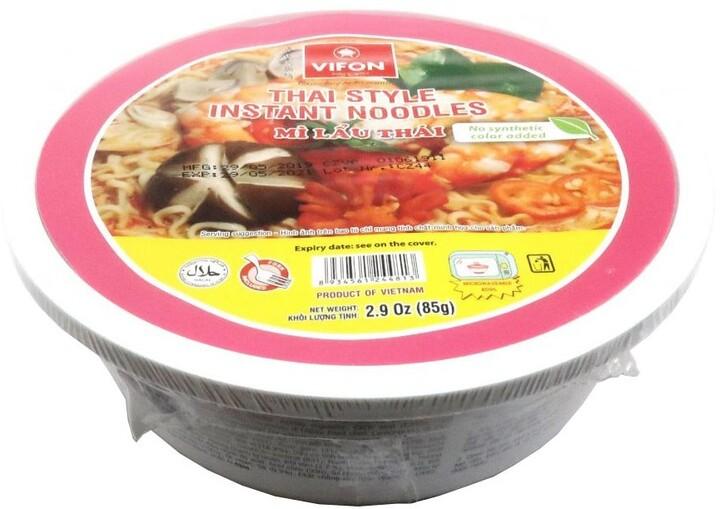 Instantní nudle krevetové Mi Lau Thai v misce 85 g