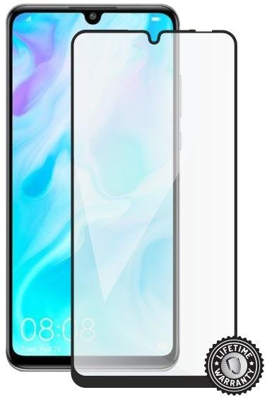 Screenshield ochrana displeje Tempered Glass pro HUAWEI P30 Lite, (full COVER), černá
