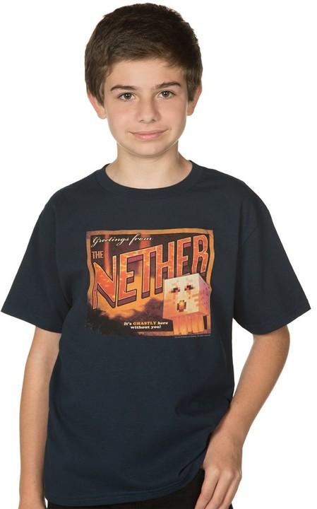 Tričko Minecraft Nether Postcard, dětské (S)