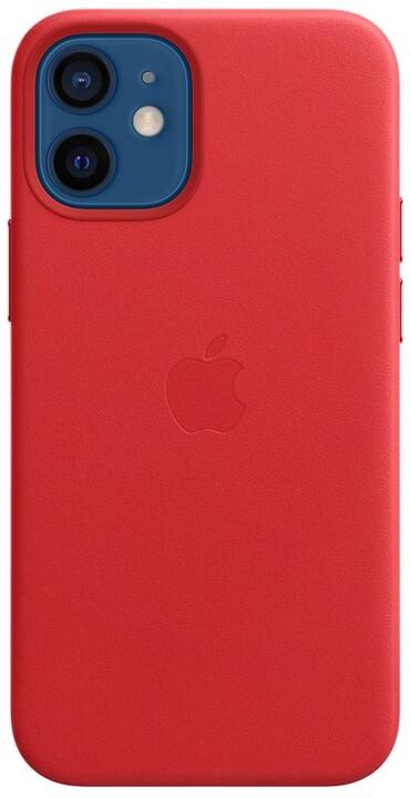 Apple kožený kryt s MagSafe pro iPhone 12 mini, (PRODUCT)RED - červená