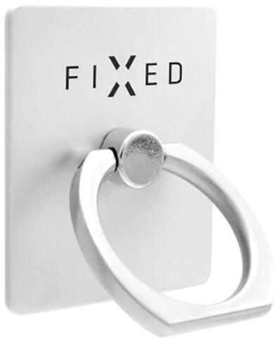 FIXED Ring prstýnek se stojánkem a držákem pro mobilní telefony, stříbrný