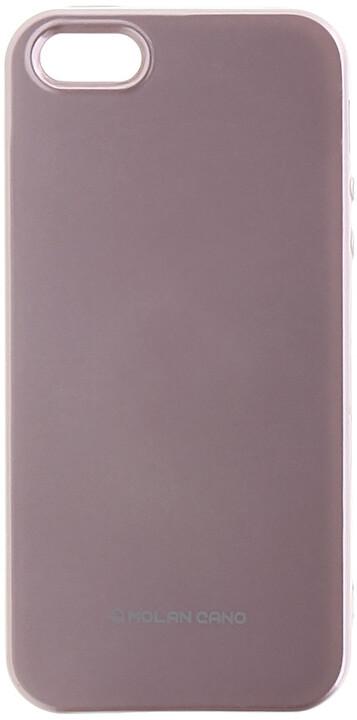 Molan Cano Jelly TPU Pouzdro pro iPhone X, růžově zlatá