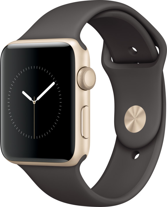 Apple Watch 2 42mm Gold Aluminium Case with Cocoa Sport Band