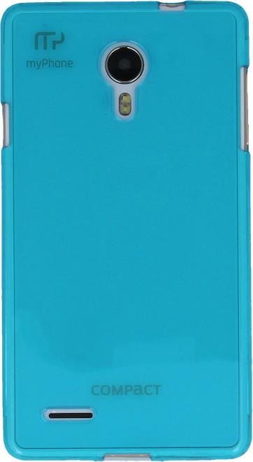 myPhone silikonové pouzdro pro Compact, transparentní tyrkysová