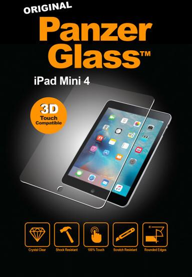 PanzerGlass Edge-to-Edge pro Apple iPad mini 4, čiré