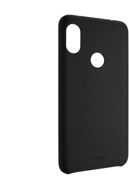 FIXED zadní kryt Tale pro Xiaomi Redmi Note 6 Pro, PU kůže, černá