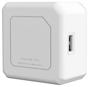 PowerCube nabíječka PowerUSB, 2x USB-C, 2x USB-A, PD, 60W, bílá