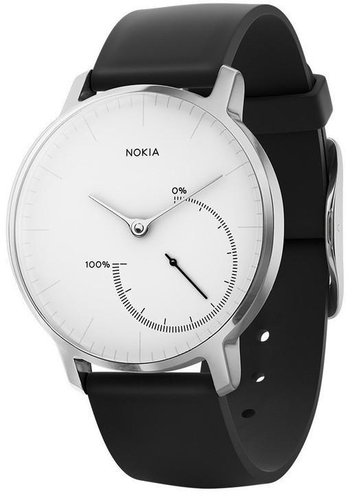 Nokia chytré hodinky Steel - černá/bílá