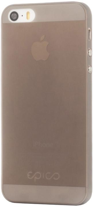 EPICO Plastový kryt pro iPhone 5/5S/SE TWIGGY MATT - černý transparentní