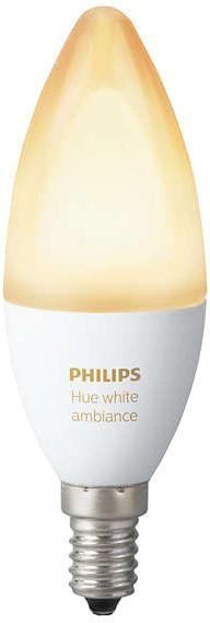 PHILIPS Hue White Ambiance, žárovka svíčková 6W E14 B39 DIM