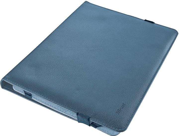 "Trust Verso Universal Folio Stand pouzdro na 10.1"", modrá"