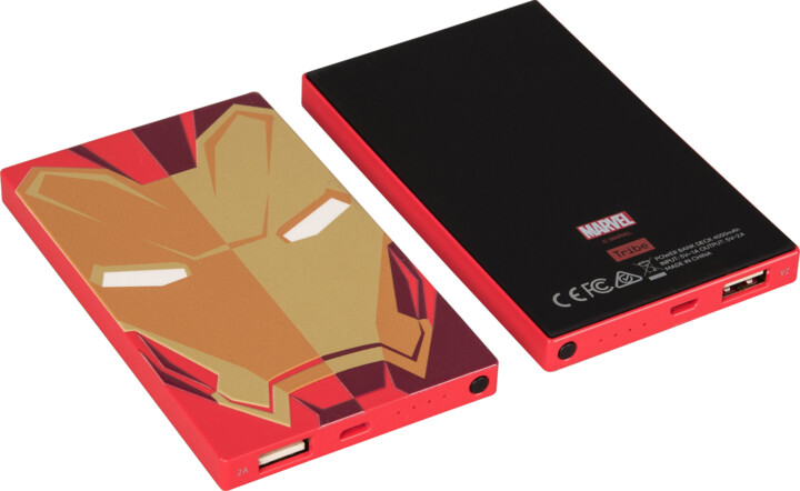 Tribe Marvel Iron Man 4000mAh Power Bank - Červená