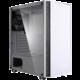 Zalman R2, 1x120mm RGB, tvrzené sklo, bílá