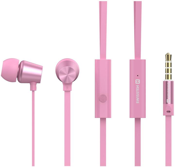 SWISSTEN Dynamic YS500, růžová/zlatá