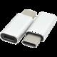 PremiumCord adaptér USB 3.1 konektor C/male - USB 2.0 Micro-B/female, stříbrný