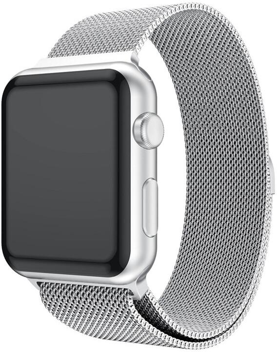 MAX náhradní řemínek MAS28 pro Apple Watch, 42/44mm, stříbrná