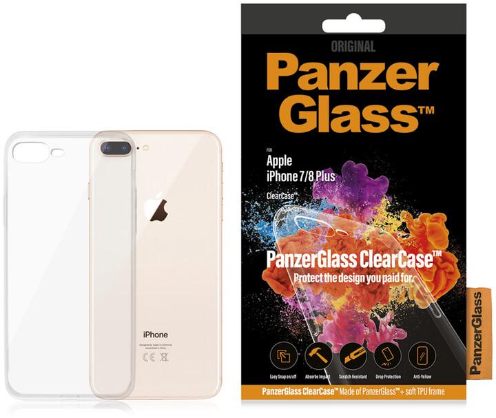 PanzerGlass ClearCase skleněný kryt pro Apple iPhone 7 Plus/8 Plus, čirá
