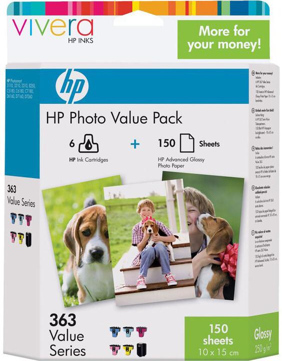 HP Q7966EE, no.363 + 150 ks 10x15, Multipack