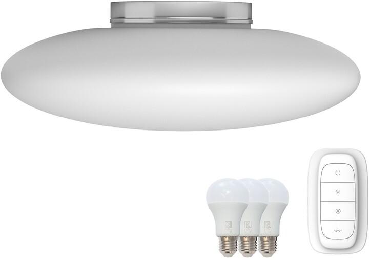 IMMAX NEO ELIPTICO stropní svítidlo bílé sklo 60cm včetně Smart zdroje 3xE27 RGBW