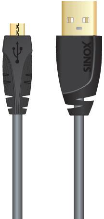 Sinox SXC4902 USB A-microB, 2m