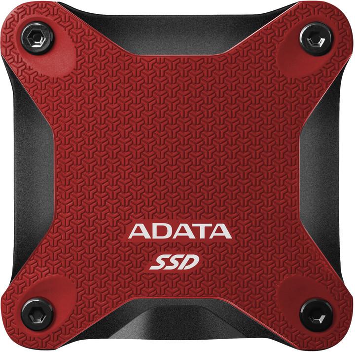 ADATA ASD600Q, USB3.1 - 480GB, červená