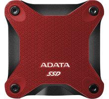 ADATA ASD600Q, USB3.1 - 240GB, červená - ASD600Q-240GU31-CRD