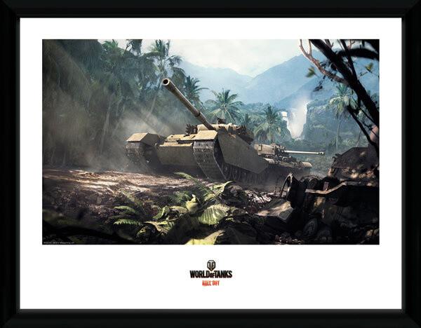 Zarámovaný plakát World of Tanks - Forest Tank