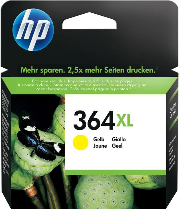 HP CB325EE, č. 364XL, žlutá – ušetřete až 50 % oproti standardní náplni