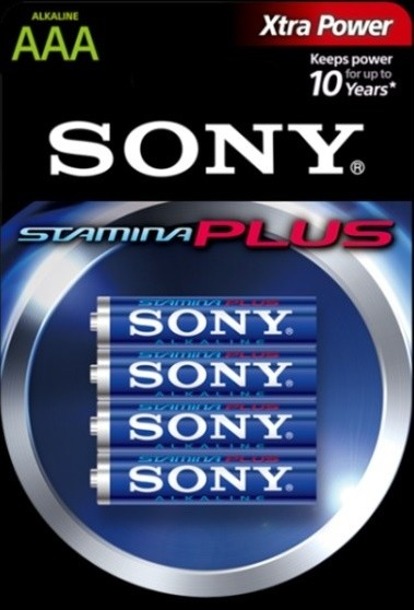 "SONY Alkalická baterie ""STAMINA PLUS"" - LR03/AAA 1,5V - 4 ks v balení Eco Pack"