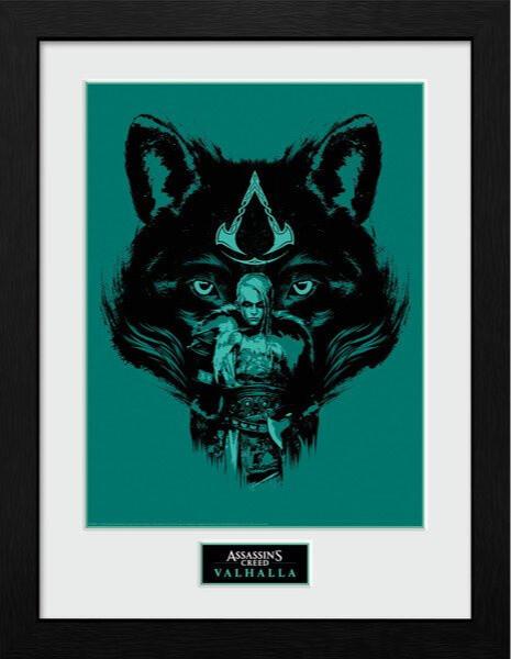 Zarámovaný plakát Assassins Creed: Valhalla - Wolf