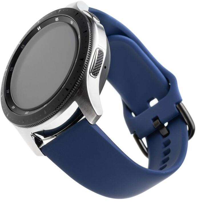 FIXED silikonový řemínek pro smartwatch, šířka 22mm, modrá